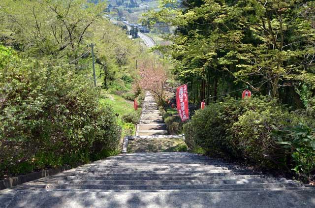 三熊野神社への階段