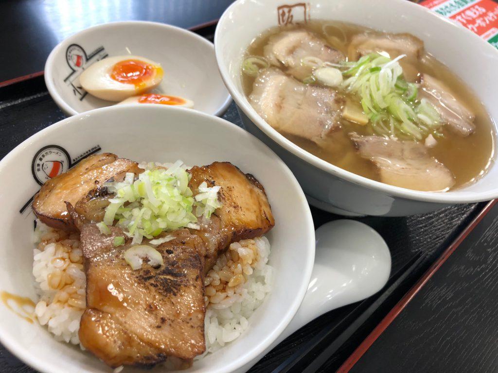 炙り焼豚ご飯セット