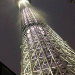 闇夜に浮かぶ東京スカイツリー